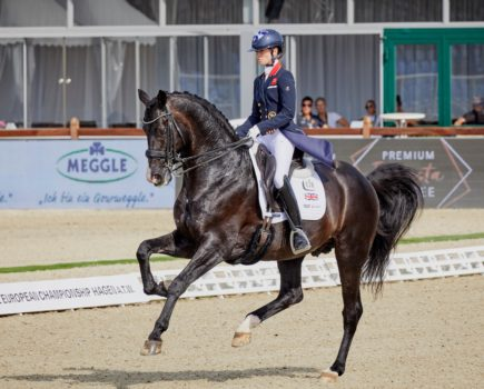 Lottie Fry helps Britain to early team lead at dressage European Championships