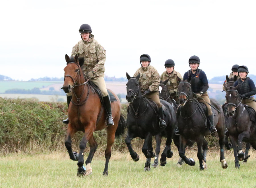 King's Troop horses and soldiers swap London duties for jumping and hacking in Leicestershire