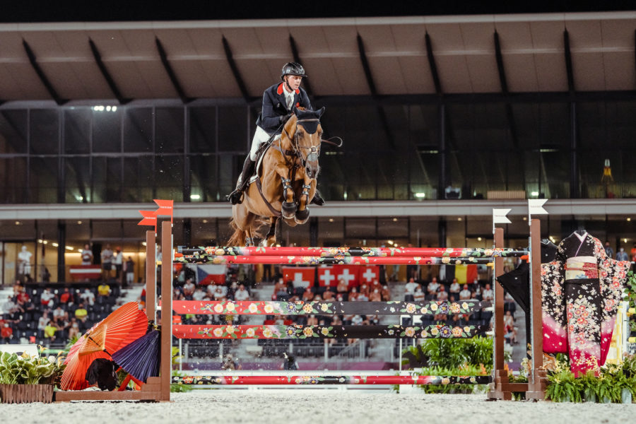 Ben Maher leads all three British riders through to tomorrow's individual Olympic showjumping final