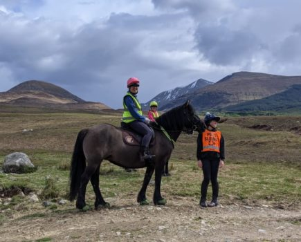 Moving rocks to clear a river crossing and pony swaps: mum and two daughters Hack 1,000 Miles in Scotland