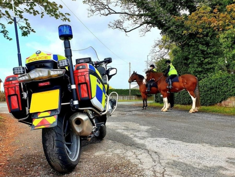 Mounted Police road patrol stops more than 40 drivers for passing horses too fast or too close