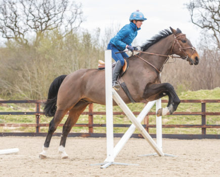 2 exercises to teach a keen horse to wait and listen over a fence