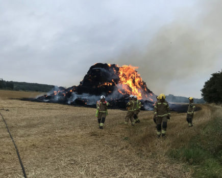 Cause of fire that destroyed around 300 tonnes of straw bedding for horses is being investigated