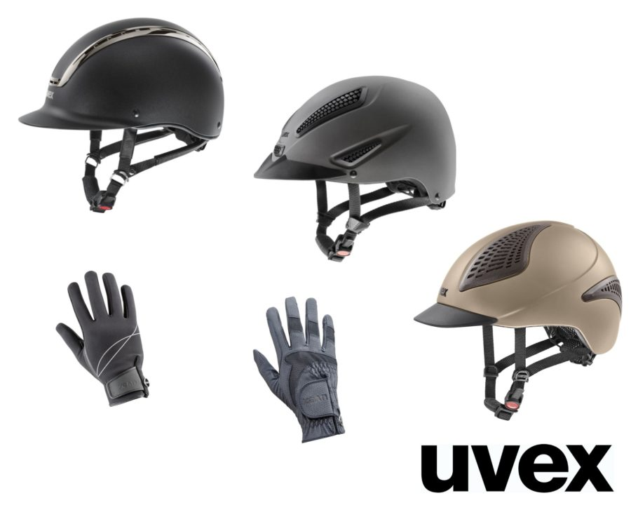Win Uvex helmets and gloves