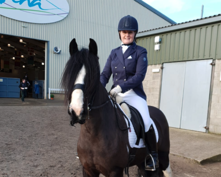 £5 bargain cob becomes 'accidental dressage horse' and qualifies for Petplan Equine Area Festival