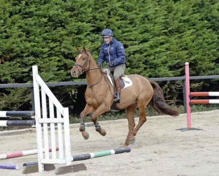 How to Keep Him Straight Over a Jump